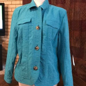 Coldwater Creek Turquoise jacket